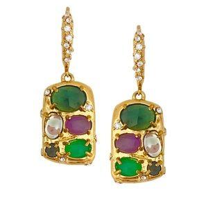 ALEXIS BITTAR • Multicolor Stone Cluster Earrings